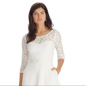 White House Black Market Dresses - White House Black Market Lace Fit n Flare Dress 12